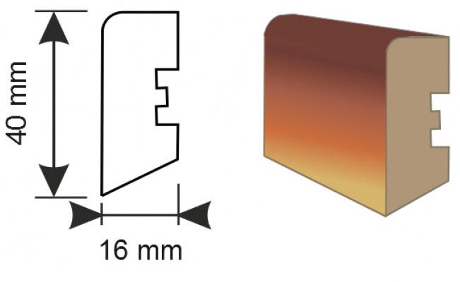 Profil podlahové lišty